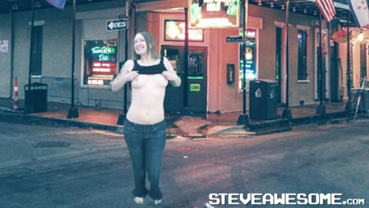 Fitness Girl Virtual Topless Mardi Gras